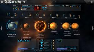 Ein Sternensystem mit diversen Planeten
