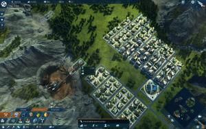 Eine Mine wird auf einem entsprechenden Bauplatz gesetzt