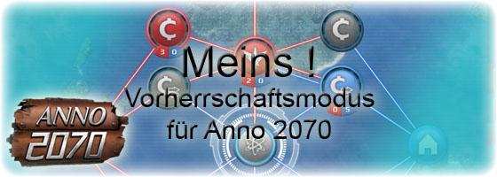 Anno 2070 Vorherrschaftsmodus