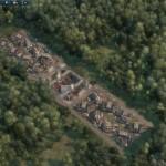 ... mit ersten Häusern