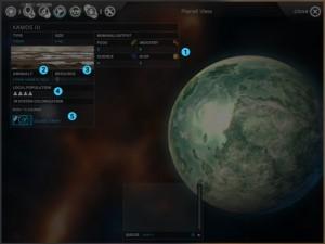 Planetenansicht