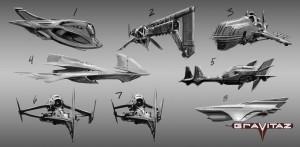 Gravitaz: Konzeptzeichnungen der Spinner
