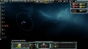 Titan mit Druckwelle nach Beendigung eines Sprungs